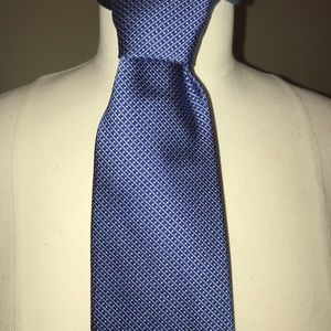 Brooks Brothers Silk 346 Navy & Blue Check Tie